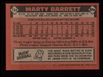 1986 Topps #734  Marty Barrett  Back Thumbnail
