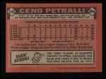 1986 Topps #296  Geno Petralli  Back Thumbnail