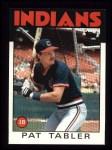1986 Topps #674  Pat Tabler  Front Thumbnail