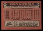 1986 Topps #364  Reid Nichols  Back Thumbnail