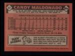 1986 Topps #87  Candy Maldonado  Back Thumbnail