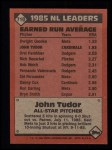 1986 Topps #710   -  John Tudor All-Star Back Thumbnail