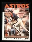 1986 Topps #298  Craig Reynolds  Front Thumbnail