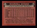 1986 Topps #525  Marvell Wynne  Back Thumbnail