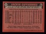 1986 Topps #633  Jackie Gutierrez  Back Thumbnail