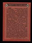 1986 Topps #405   -  Roger Maris TBC Turn Back The Clock Back Thumbnail