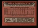 1986 Topps #596  Onix Concepcion  Back Thumbnail