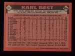1986 Topps #61  Karl Best  Back Thumbnail