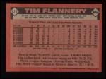 1986 Topps #413  Tim Flannery  Back Thumbnail