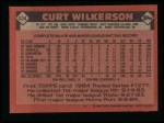 1986 Topps #434  Curt Wilkerson  Back Thumbnail