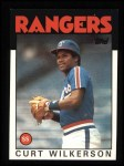 1986 Topps #434  Curt Wilkerson  Front Thumbnail