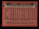 1986 Topps #255  Tony Armas  Back Thumbnail