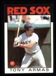 1986 Topps #255  Tony Armas  Front Thumbnail