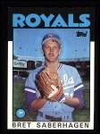 1986 Topps #487  Bret Saberhagen  Front Thumbnail