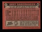 1986 Topps #487  Bret Saberhagen  Back Thumbnail