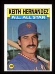 1986 Topps #701   -  Keith Hernandez All-Star Front Thumbnail