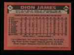 1986 Topps #76  Dion James  Back Thumbnail