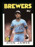 1986 Topps #76  Dion James  Front Thumbnail