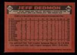 1986 Topps #129  Jeff Dedmon  Back Thumbnail