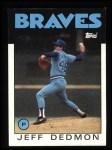 1986 Topps #129  Jeff Dedmon  Front Thumbnail