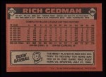 1986 Topps #375  Rich Gedman  Back Thumbnail