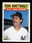 1986 Topps #712   -  Don Mattingly All-Star Front Thumbnail
