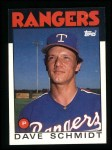 1986 Topps #79  Dave Schmidt  Front Thumbnail