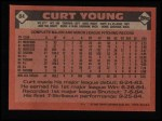 1986 Topps #84  Curt Young  Back Thumbnail