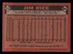 1986 Topps #320  Jim Rice  Back Thumbnail