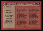 1986 Topps #351  Chuck Tanner  Back Thumbnail