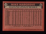 1986 Topps #136  Mike Hargrove  Back Thumbnail