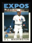 1986 Topps #113  U.L. Washington  Front Thumbnail