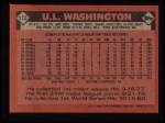 1986 Topps #113  U.L. Washington  Back Thumbnail