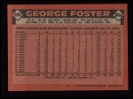 1986 Topps #680  George Foster  Back Thumbnail