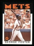 1986 Topps #680  George Foster  Front Thumbnail