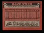 1986 Topps #650  Dave Stieb  Back Thumbnail