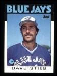 1986 Topps #650  Dave Stieb  Front Thumbnail