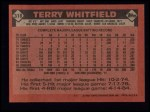 1986 Topps #318  Terry Whitfield  Back Thumbnail