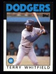 1986 Topps #318  Terry Whitfield  Front Thumbnail