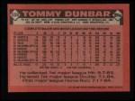 1986 Topps #559  Tommy Dunbar  Back Thumbnail