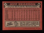 1986 Topps #35  Jeff Reardon  Back Thumbnail