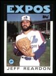 1986 Topps #35  Jeff Reardon  Front Thumbnail