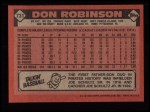1986 Topps #731  Don Robinson  Back Thumbnail