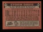 1986 Topps #469  Storm Davis  Back Thumbnail