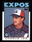 1986 Topps #526  Charlie Lea  Front Thumbnail