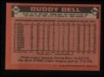 1986 Topps #285  Buddy Bell  Back Thumbnail