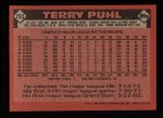 1986 Topps #763  Terry Puhl  Back Thumbnail