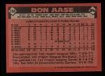 1986 Topps #288  Don Aase  Back Thumbnail
