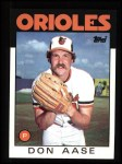 1986 Topps #288  Don Aase  Front Thumbnail