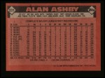 1986 Topps #331  Alan Ashby  Back Thumbnail